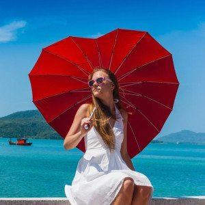 Paraguas forma de corazón - Para los más románticos
