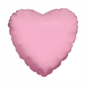 Globo de helio corazón rosa
