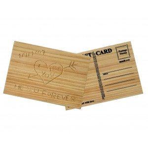 Holzpostkarte zum Selbergravieren