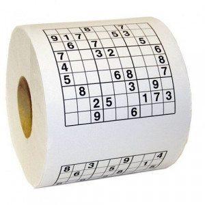 Papel de WC Sudoku - El momento para pasatiempos