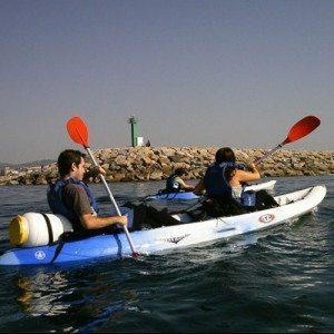 Iniciación en Kayak por la costa de Vilanova - Barcelona
