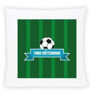 Kissen mit Fußballmotiv und Namen