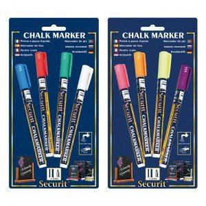 Rotuladores de tiza – 4 colores para pintar como quieras