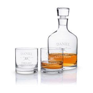 Leonardo: Lujoso Set de Whisky con grabado