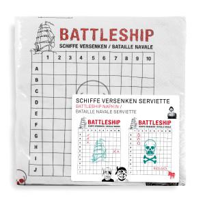 Lustige Spieleservietten - Schiffe versenken