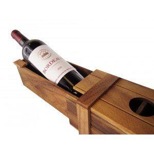 Caja de regalo para botella de vino mágica - ¡Adivina como se abre!