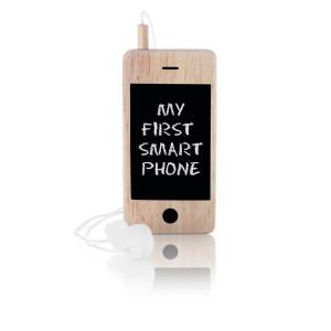 Mi primer teléfono inteligente – de madera y con pizarra