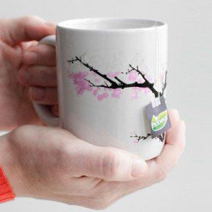 Taza metamorfosis-Cerezo en flor - ¡Florece con el calor!