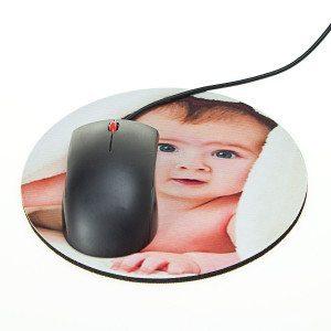 Mousepad mit persönlichem Foto - Rund