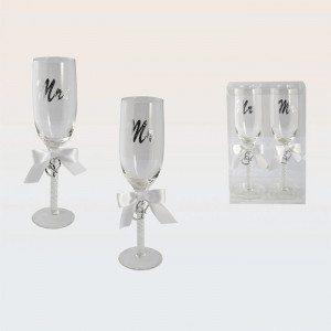 """Copas """"Mrs. y Mr.""""  -  el regalo perfecto para la boda ideal"""