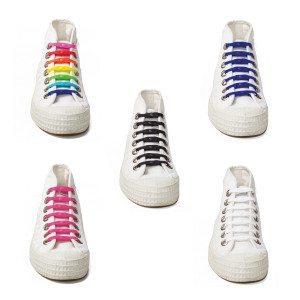 Cordones elásticos de diferentes colores