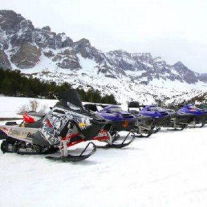 Pack nórdico con moto de nieve - Huesca