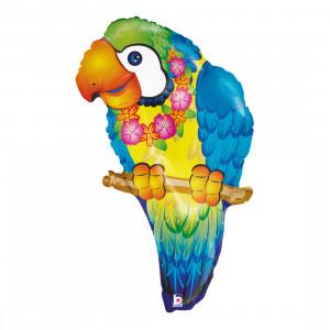 Globo de helio «papagayo de colores»