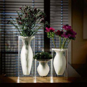 Jarrones flotantes - Un divertido efecto óptico para decorar