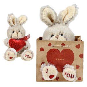 Bolsa con conejo personalizable