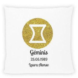 Cojín Signo del Zodiaco – Personalizalo con fecha y nombre