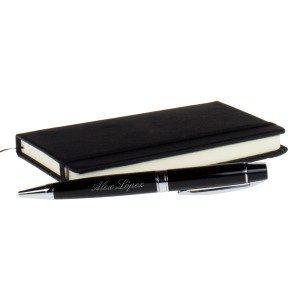 Elegante bolígrafo de diseño con grabado personalizado