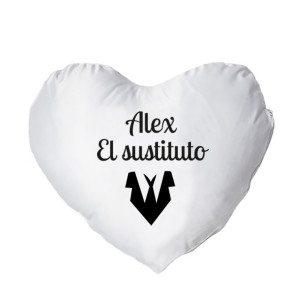 """Almohada """"Sustituta"""" en forma de corazón - Personalizable"""