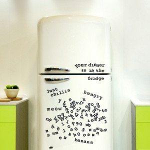 Abecedario magnético para el frigo más divertido
