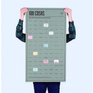Póster las 100 cosas que tienes que hacer antes de morir