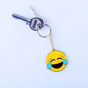 Emoticono-llavero - Carita de felicidad
