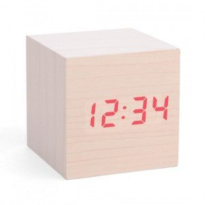 Reloj despertador Wood Cube