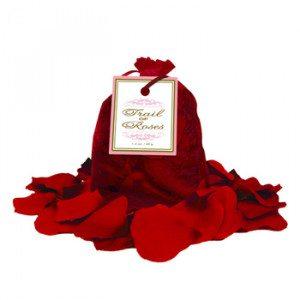 Romántica bolsa de pétalos de rosas