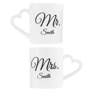 Romantische Partnertassen Mr & Mrs