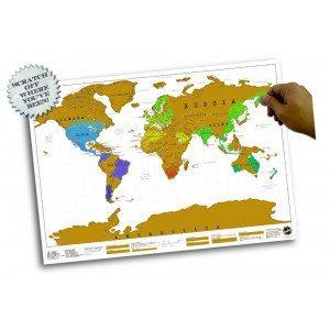 Mapamundi para rascar formato poster para grandes viajeros