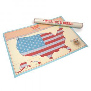 """Rubbelkarte """"USA"""""""