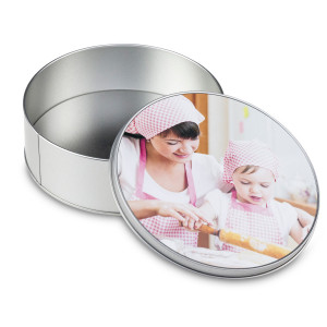 Caja de regalo redonda con foto - imprime esa imagen eterna