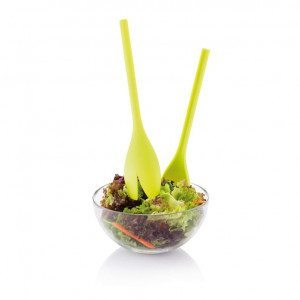 "Salatbesteck und Dressing-Shaker ""Tulpe"""