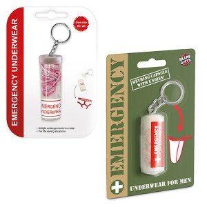 Schlüsselanhänger mit Notfallunterhose