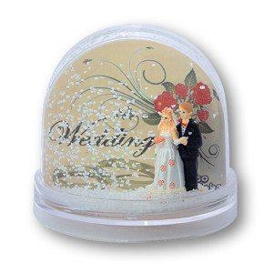 Schneekugel Hochzeit - Traumpaar