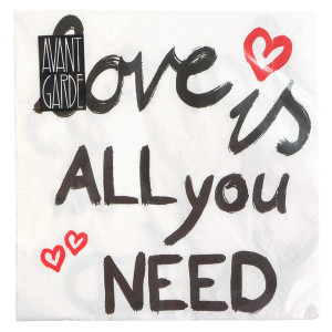 "Servilletas ""Love is all you need"" – Para las cenas más especiales"