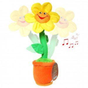 Flor de peluche que canta y baila