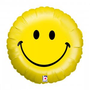 Globo de helio con forma de carita sonriente