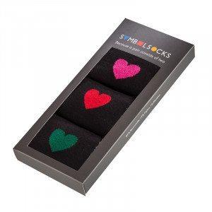 Calcetines con corazones
