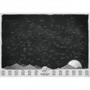 Mapa Estelar brilla en la oscuridad - Todo el firmamento