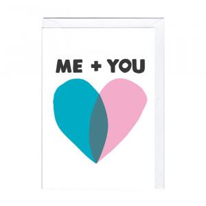 "Süße Karte ""Me + You"""