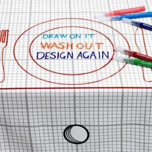 Mantel personalizable para pintar y divertirse