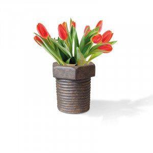 Vase im Schraubenlook