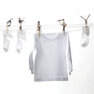 Pinzas para ropa - Funambulismo