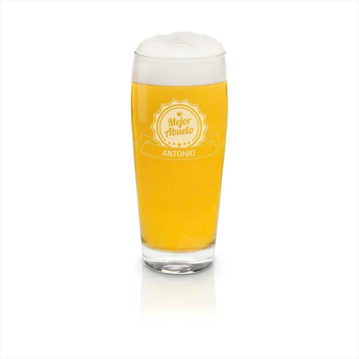 Vaso de cerveza grande con grabado personalizable